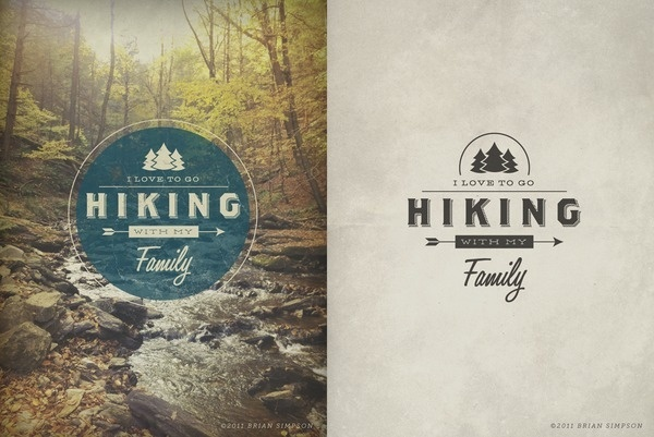 Hiking2 #outdoors #type #vintage