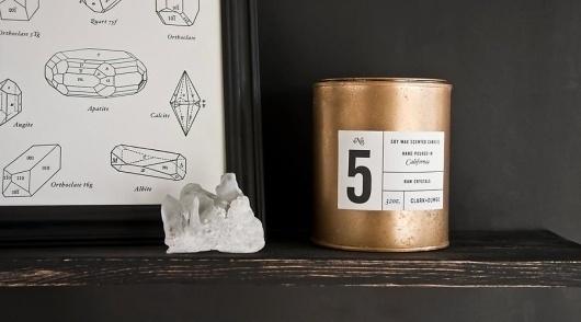 Clark & Dumbo Co. | Facebook #branding #packaging #black #label #candle #gold