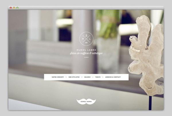 Muriel Labro #website #layout #design #web