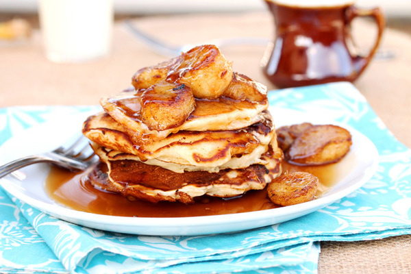1 double banana pancakes #food