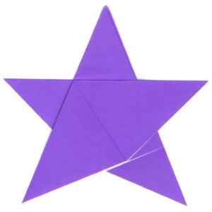 How to make a traditional five-pointed origami paper star (http://www.origami-make.org/howto-origami-star.php)