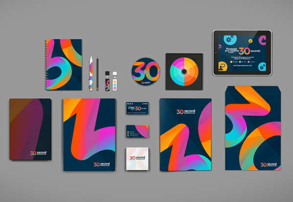 30secondpromos.co.uk branding on Behance #pattern #iconset #branding #icon #palette #icons #texture #ui #brand #identity #web #logo #colour #cd