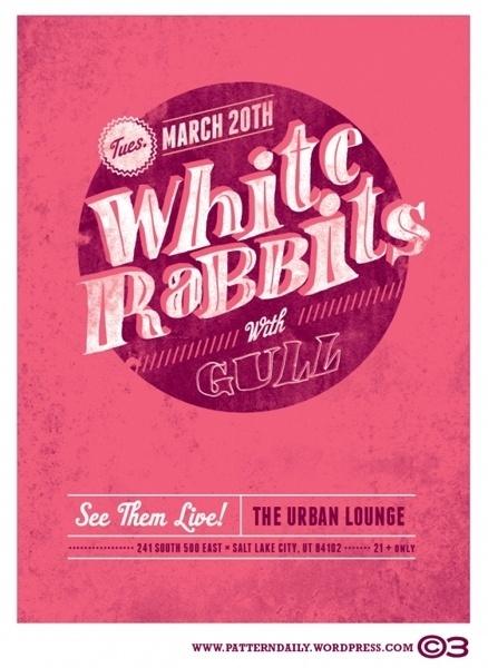 GigPosters.com - White Rabbits - Gull #type #gig #poster