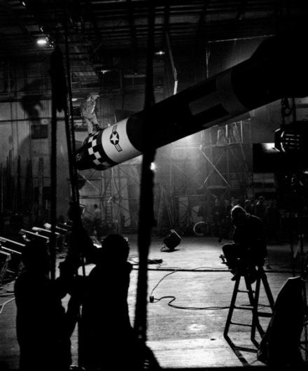 Slim Pickensduring the filming ofDr. Strangelove... | Old Hollywood #film #kubrick #white #strangelove #black #the #scenes #behind #and