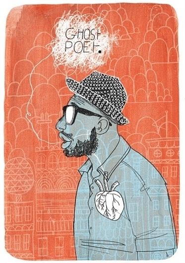 mr steve mccarthys illustration blog #heart #ghost #print #screen #illustration #poet