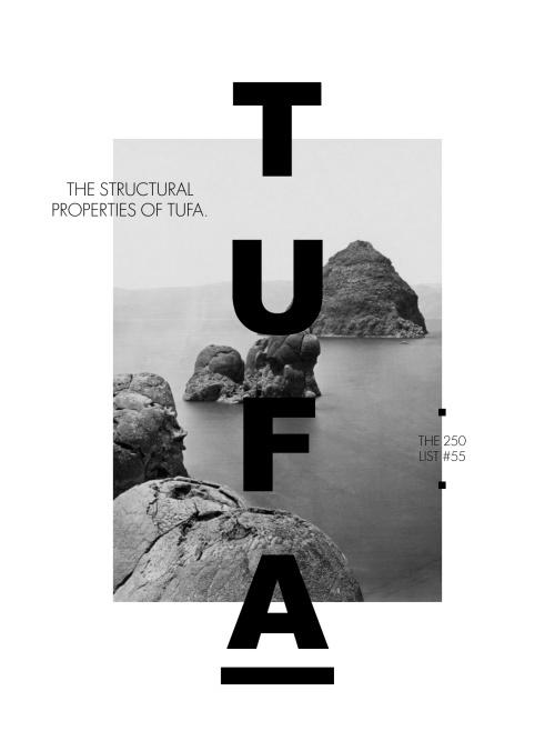 The structural properties of tufa