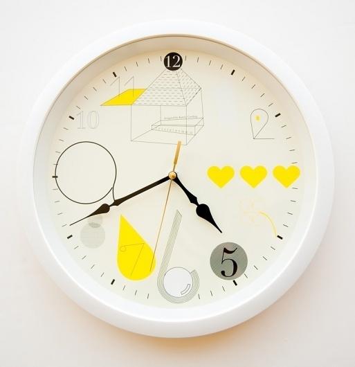 Wall clock : Katrin Greiling #clock