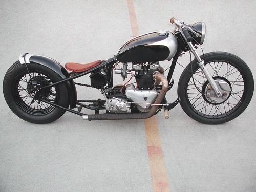 CONVOY #school #old #black #motorcycle