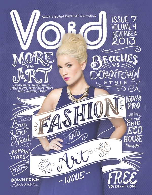 VOID Magazine by Shauna Lynn Panczyszyn #lettering #design #graphic #poster #hand #typography