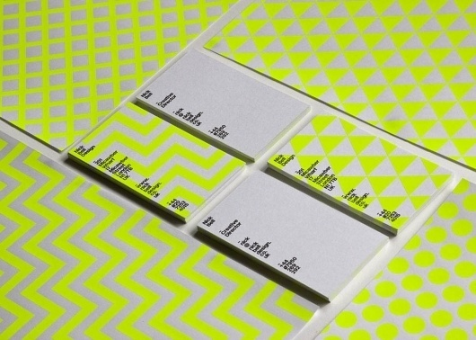 Collate #businesscards #dots #grid #triangles #green