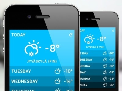 Shot_weatherappdesign #iphone #web #mobile #ui