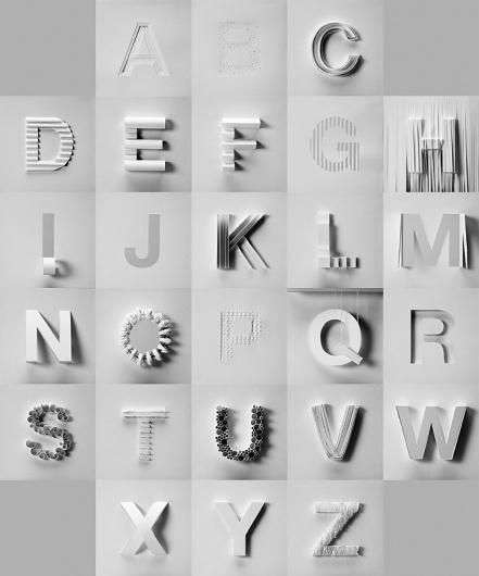 Paper ABC - Stephanie Chu #sculpture #paper