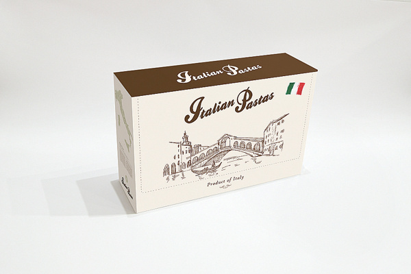 Italian pasta package design on the Behance Network #packaging #pasta #design #box #food #set #italian #package
