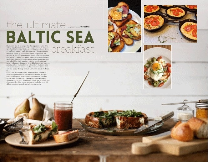 Portfolio / Layout / Breakfast Layout #editorial #layout #design #spread #magazine #food #breakfast #typography