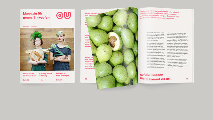 original unverpackt on Behance #ou #no #design #waste #store #supermarket #corproate #logo #editorial #magazine #berlin