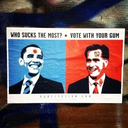 Gum Election 2012 #ooh #gum