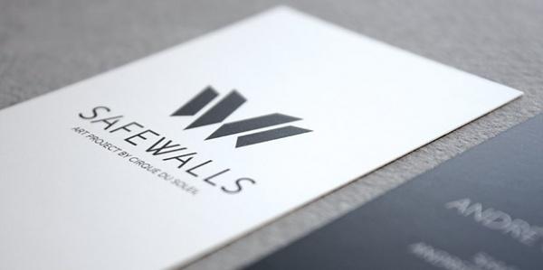Cirque du Soleil, Safewalls | Écorce Atelier Créatif #business #card #print #safewalls #logo