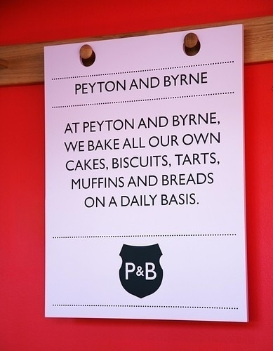 Peyton & Byrne picture on VisualizeUs #signage #design