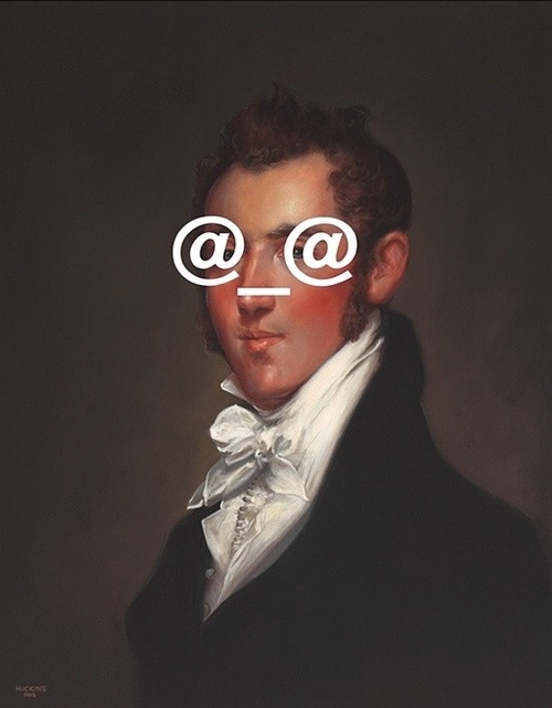 Shawn Huckins. Classical paintings with a modern... Supersonic Electronic Art #art