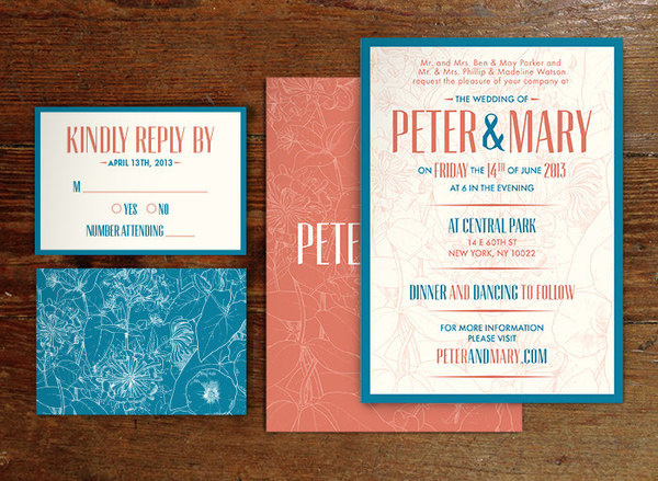 Wedding Invitation Set #rsvp #wedding #floral #invitation