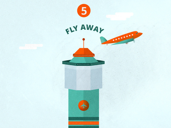 F L Y A W A Y icon 2 #infographics #travel #texture #illustration #info #plane #graphics #airport