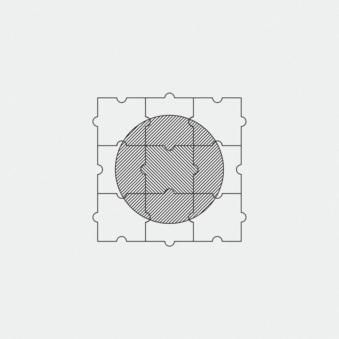//// #geometry #simplicity #puzzle #minimalism #illustration #wireframe #circle #bw