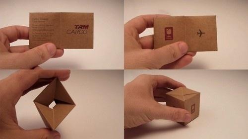 Design & cia / TAM Cargo: Box Business card #card #business
