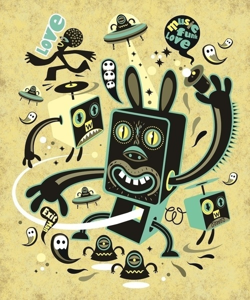 Little Black Magic Rabbit Art Print by Exit Man | Society6 #owl #exit #illustration #stars #hat #aliens #art #love #magic #rabbit #weird