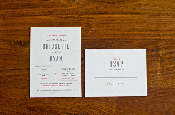 wedding invitation #invite #invitation #letterpress #rsvp #type #wedding #typography