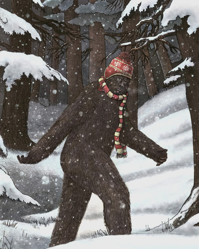 terryfan #bear #illustration #snow