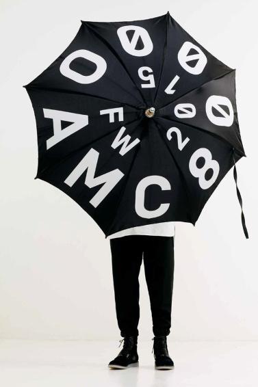 OAMC 2015 Fall/Winter Lookbook #fw #umbrella #2015 #oamc #typography