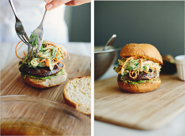 mushroom burgers with asian slaw . sprouted kitchen #food
