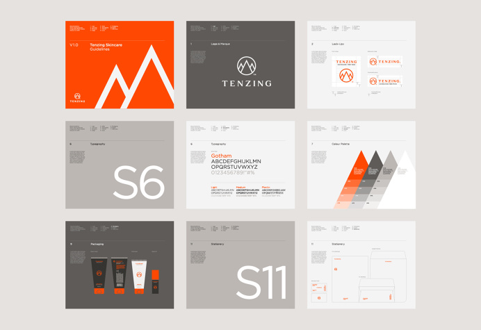 branding, manual, spreads