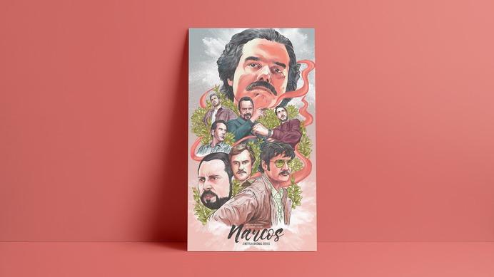 Narcos - Alternate Movie Poster - The Commas