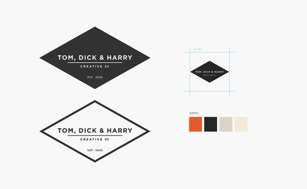 tom, dick and harry logo design #logo #design