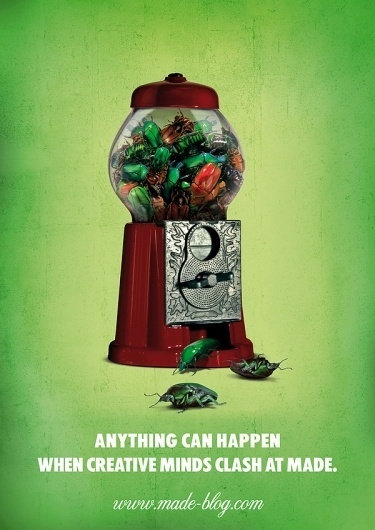 poster design / made-blog.com on the Behance Network #happen #bugs #made #madeblog #can #anything #green
