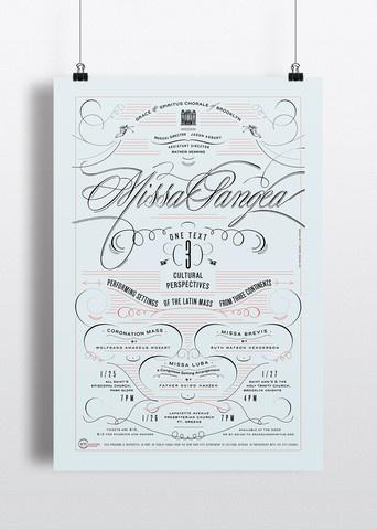 Missa Pangea #elegant #script #poster #typography