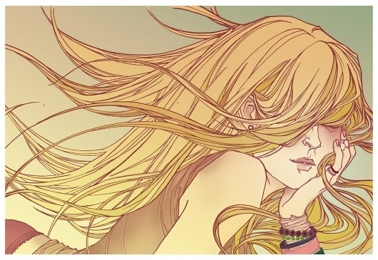 All sizes | Virgin Suicides Illustration. | Flickr - Photo Sharing! #girl #illustration #blonde #annie #wu