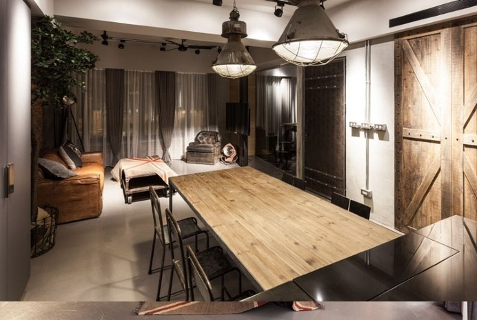 Taipei apartment: industrial and vintage style design
