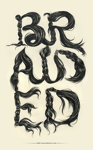 FFFFOUND! | braided :: Typography Served #white #black #drawn #poster #and #hand