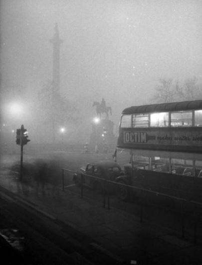London Smog, December, 1952   HOW TO BE A RETRONAUT #london #1950 #smog