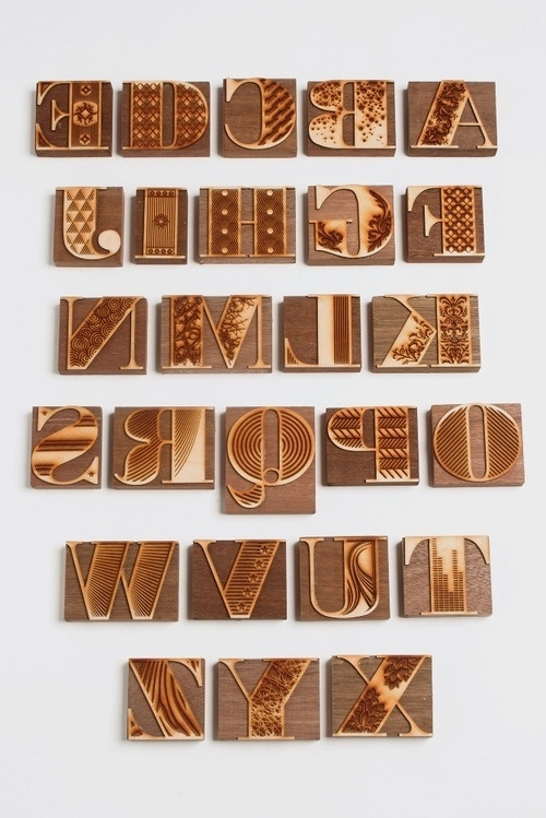 PrettyClever #wood #type #typography
