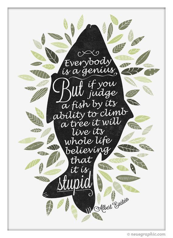 Albert Einstein quote poster #print #neuegraphic #etsy #poster #typography