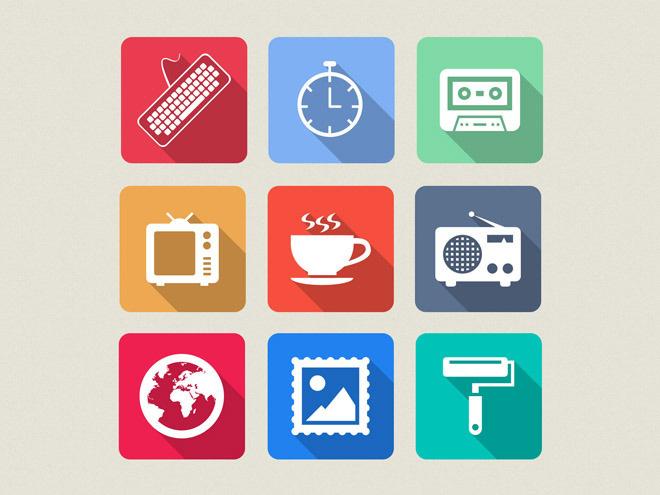Flato : Free PSD flat Icon Set