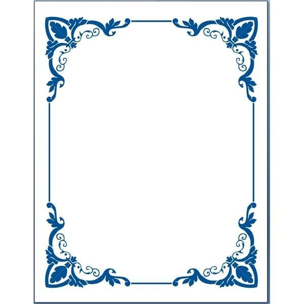 Blue Flower Borders For Word Document 5 In Border Designs