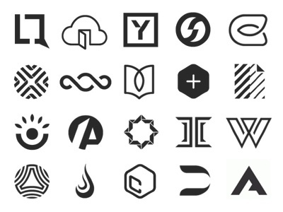 Dribbble - 100 years of trademarks by Tony Lane #mark #logotype #marks #forms #emblem #shapes #symbol #logo