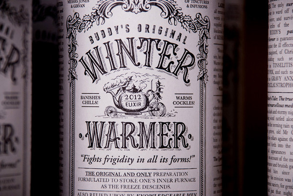 winter warmer #packaging #design #vintage #type #typography
