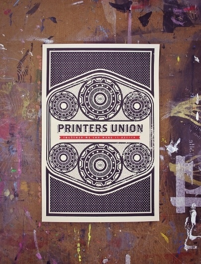 Mike Smith #union #deisign #print #screen #nom #poster #now #printers #gears #table