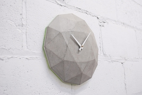 Cairo Star Cut concrete wall clock. #accessories #concrete #decor #home #wall