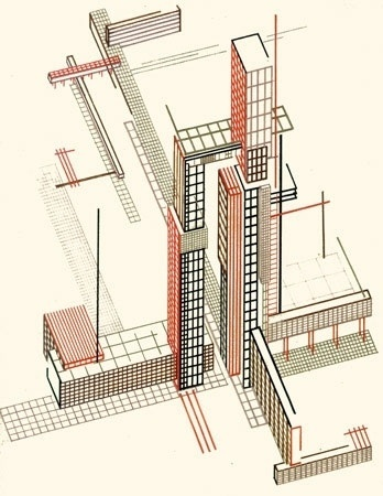 The sun as the expression of old world energy is torn down from the... - but does it float #el #constructivism #lissitzky #yakov #chernikov #architecture #drawing